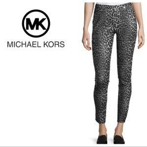 NWT Michael Kors Animal Print Skinny Ankle Pants